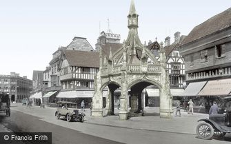 Salisbury, the Poultry Cross and Silver Street 1928
