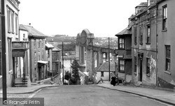 Saltash, Fore Street And The Bridge c.1955