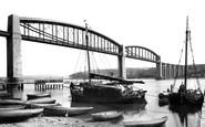 Saltash, Royal Albert Bridge And Tamar Barges 1890