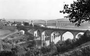 Saltash, The Coombe Viaduct And Royal Albert Bridge c.1955