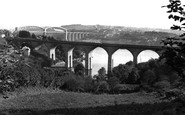 Photo of The Coombe Viaduct And Royal Albert Bridge c1965, Saltash