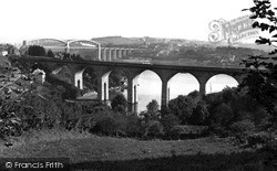 Saltash, The Coombe Viaduct And Royal Albert Bridge c.1965