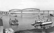 Saltash, The Ferry And Royal Albert Bridge c.1955