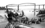 Saltash, The Royal Albert Bridge And Ferry c.1955