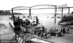 Saltash, The Royal Albert Bridge And Ferry c.1955