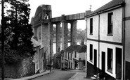 Saltash, the Royal Albert Bridge from Fore Street c1955