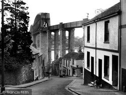 Saltash, The Royal Albert Bridge From Fore Street c.1955