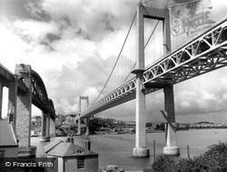 The Tamar Bridge c.1965, Saltash