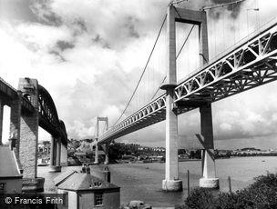 Saltash, the Tamar Bridge c1965