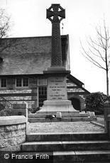 Saltash, the War Memorial c1955