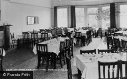 Saltburn-By-The-Sea, Brockley Hall, The Dining Room c.1965