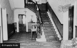 Saltburn-By-The-Sea, Brockley Hall, The Hallway c.1965