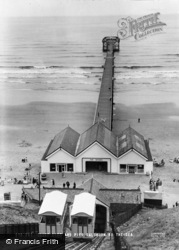 Saltburn-By-The-Sea, Cliff Lift And Pier c.1965