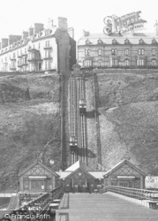 Saltburn-By-The-Sea, Cliff Lift From The Pier 1901