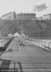 Saltburn-By-The-Sea, Cliff Lift From The Pier 1929