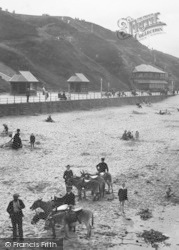 Saltburn-By-The-Sea, Donkeys On The Sands 1913