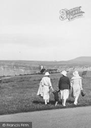 Saltburn-By-The-Sea, Ladies Taking A Walk 1923