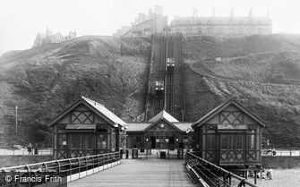 Saltburn-by-the-Sea, Lift and Pier Entrance 1913