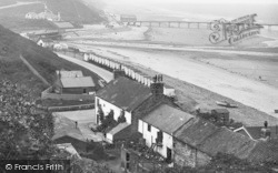 Saltburn-By-The-Sea, Looking West Towards The Pier 1927