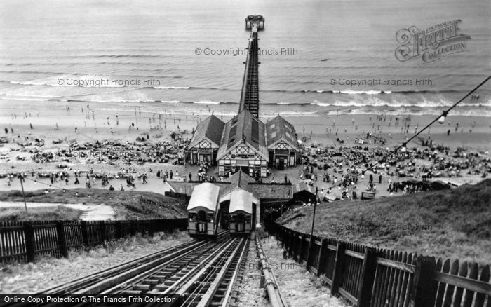 Photo of Saltburn By The Sea, The Cliff Tramway And The Pier c.1955