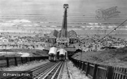 Saltburn-By-The-Sea, The Cliff Tramway And The Pier c.1955, Saltburn-By-The-Sea