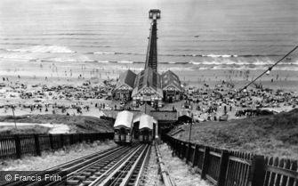 Saltburn-by-the-Sea, the Cliff Tramway and the Pier c1955
