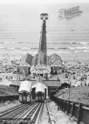Saltburn-By-The-Sea, The Cliff Tramway And The Pier c.1955