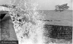 Saltdean, Rough Sea c.1965