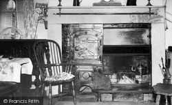 Saltergate, Saltersgate Hotel, The Old Turf Fireplace c.1955