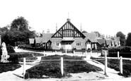 Saltwood, Village Hall and Almshouses 1902