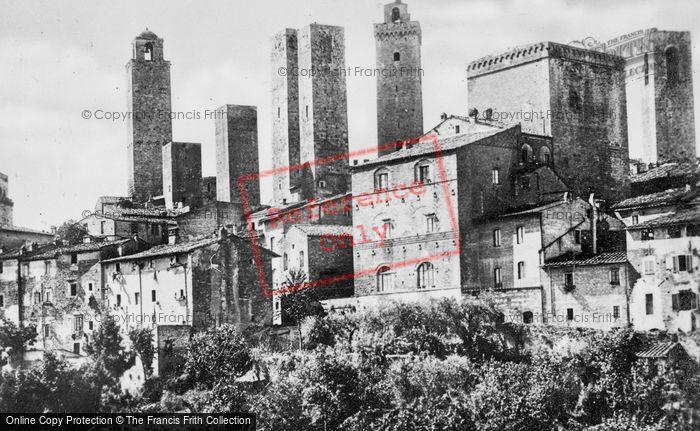 Photo of San Gimignano, View From Conservatorio Di Santa Chiara c.1910