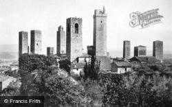 View From Rocca Di Montestaffoli c.1920, San Gimignano