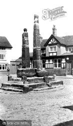 Sandbach, Ancient Saxon Crosses c.1955