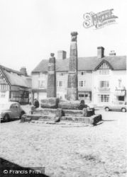 Sandbach, Ancient Saxon Crosses c.1960