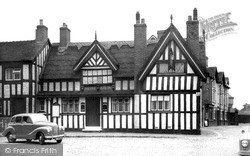 Sandbach, Black Bear Inn (1634) c.1955