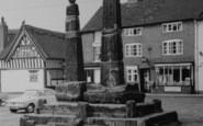 Sandbach, Crosses In The Square c.1965