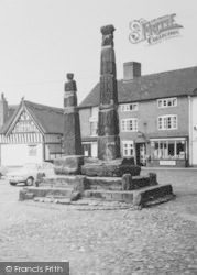 Sandbach, Crosses In The Square c.1965