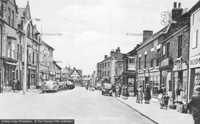 Photo of Sandbach, High Street c.1955