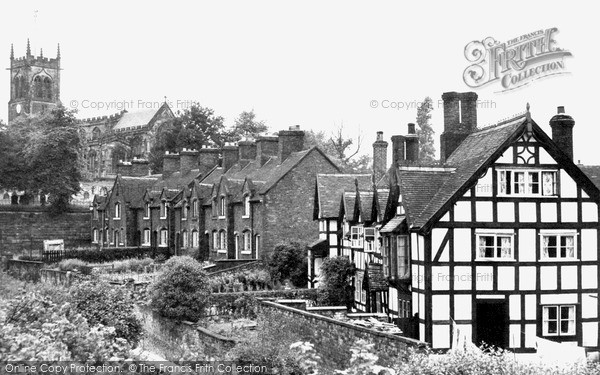 Photo of Sandbach, Old Houses, Front Street c.1955