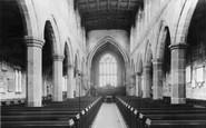 Sandbach, St Mary's Church Interior c.1955