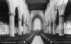 Sandbach, St Mary's Church Interior c.1955