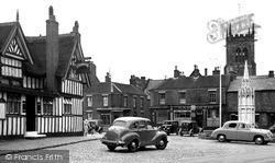 Sandbach, The Black Bear Inn And Market Place c.1955