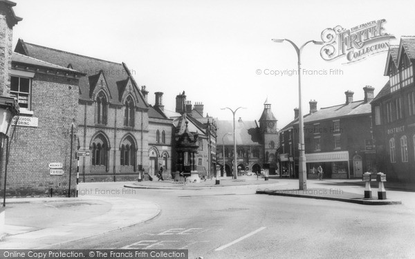 Photo of Sandbach, The Fountain And High Town c.1960