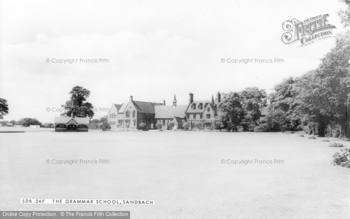 Photo of Sandbach, The Grammar School c.1960