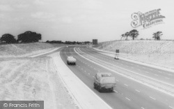 Sandbach, The Motorway c.1960