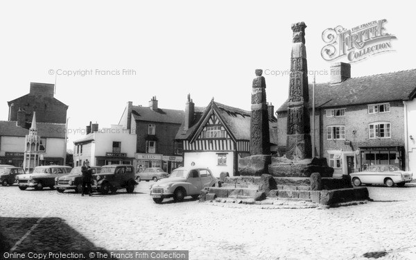 Photo of Sandbach, the Square and Crosses c1960