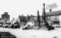 Sandbach, The Square And Crosses c.1960