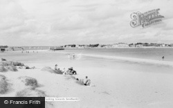 Sandbanks, View From The Beach At Shell Bay c.1960