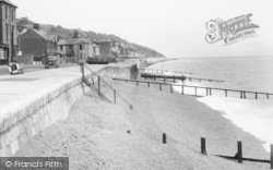 Sandgate, The Parade And Beach c.1955