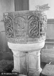 Sandhurst, Church Font 1907